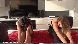Yoga teen lesbians Mary...