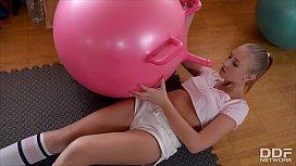 Gym enthusiast Milana Blanc...