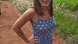 Raquel Exibida pelada ao lado da rodovia dos bandeirantes- www.raquelexibida superxvideo