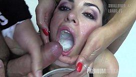 Premium Bukkake - Nicole swallows...