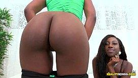 Two petite ebony lesbians...