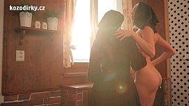 Beautiful catholic nuns in...