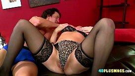 Granny Enjoys Huge Dick and Creampie