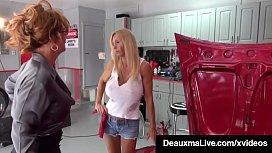 Hot Cougar Deauxma Tongue Fucks Horny Mechanic Brooke Tyler!