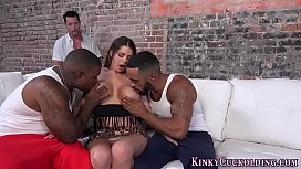 Busty babe bbc creampied...
