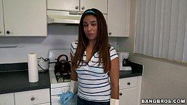 Hot Latina Maid Makes...