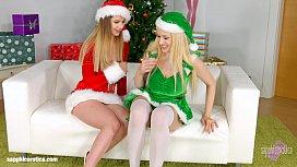 Merry Breastmas - lesbian scene...