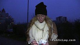Euro blonde fucking in...