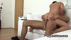 Fake agent bangs and...