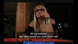 PublicAgent Blonde cafe waitress...