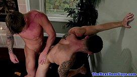 Muscled jock bareback assfucks...