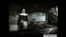 A nun having great sex
