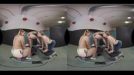 GYM ORGY WITH KARLA KUSH, AJ APPLEGATE AND RILEY REYES IN NAUGHTY AMERICA VR