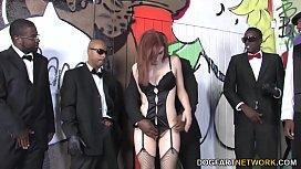 Violet Monroe Interracial Gangbang...