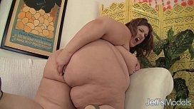 Huge Honey Masturbates Her Fat Cunt with a Thick Dildo tattgoddess mfc
