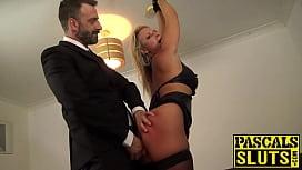 Busty Sasha Steele anally...