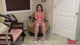 MILF gives a WebCam Striptease for her Fans