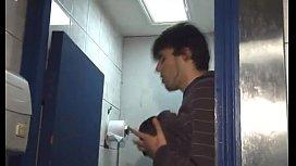 Public restroom...