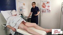 Bossy voyeur nurse instructs...