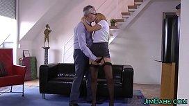 Brit amateur in stockings...
