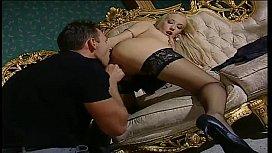 Blonde slut in black...
