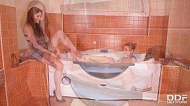 Bathroom Lesbian Sex With...