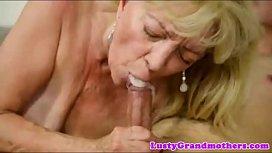 Cum mouth granny compilation...
