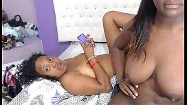 Ebony Lesbians licking and...