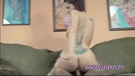 Lesbo Lavender takes a...