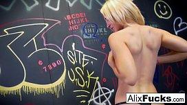 Schoolgirl Alix teases her...