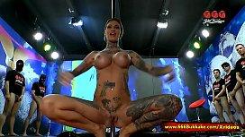 Tattooed Calisi Ink In Piss Arena - 666Bukkake