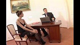 Nerdy secretary sex in thigh high st ...