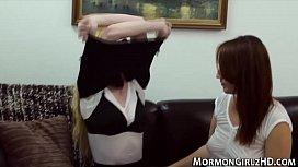 Amateur mormon licking...