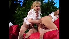 Blonde milf breaks some...