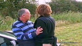Older mature couple risky...