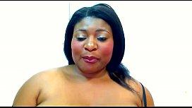 Ebony webcam dildo tittyfuck...