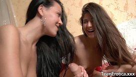 Fucking 2 teenage brunettes...