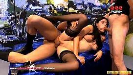 Sexy Brunette Teen moans...