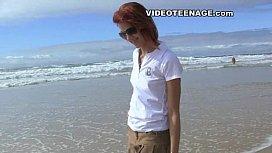 Sexy teen at beach...