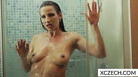 Hot milf showering...