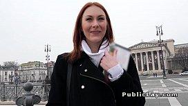 Russian redhead banged pov...