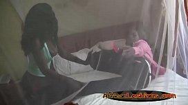 Black lesbians satisfying each...
