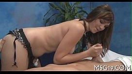 Hot masseuse with tiny...