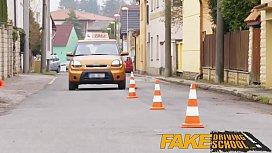 Fake Driving School Posh busty blond ...