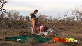 Outdoor African orgy with white guys too xxx video
