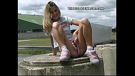Blonde teen uspkirt with...
