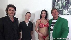 Lucky fan gets a blowjob from Aletta Ocean
