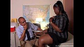 Busty mature black BBW...