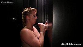 Chubby blonde gloryhole cock...