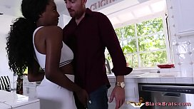 Spoilt Ebony Teen Decides...